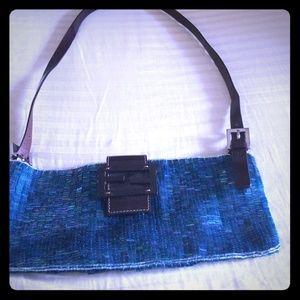 Turquoise Flat hand beaded FENDI bag- Very Rare!